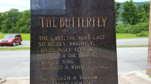 Whitwell butterfly monument CU